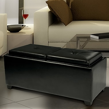 Darby Home Co Cassy Leather Storage Tray Ottoman