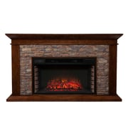 Darby Home Co Simulated Electric Fireplace; Whiskey Maple