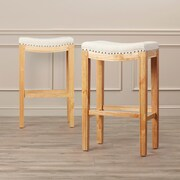 Darby Home Co 30'' Bar Stool (Set of 2); Natural