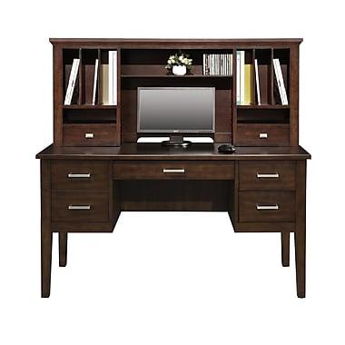 Darby Home Co Eaton 24'' H x 54'' W Desk Hutch; Chocolate