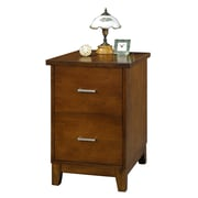 Darby Home Co Eaton 2-Drawer File; Brown Cherry