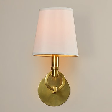Darby Home Co Halford 1-Light Wall Sconce; Aged Brass