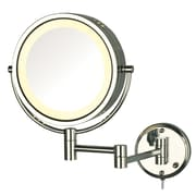 Darby Home Co Dual Sided Wall Mount Halo Lighted Mirror; Chrome