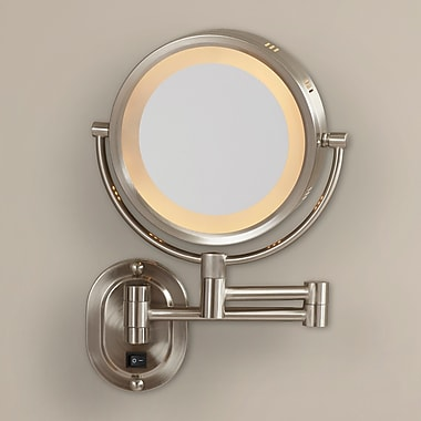 Darby Home Co Wall Mount Mirror; Matte Nickel