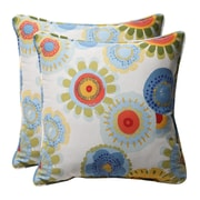 Darby Home Co Purlles Outdoor Throw Pillow (Set of 2); Multicolored Floral