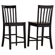 Darby Home Co 24'' Bar Stool (Set of 2); Rich Black