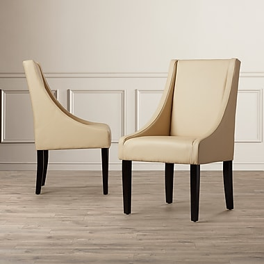 Darby Home Co Flossmoor Upholstered Dining Chair (Set of 2); Sand