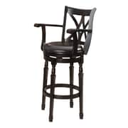 Darby Home Co Kappler 30.5'' Swivel Bar Stool; Black