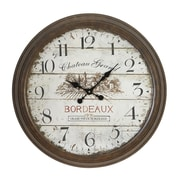 Darby Home Co Holsworthy Oversized 28'' Dial Face of 1971 Bordeaux Wall Clock