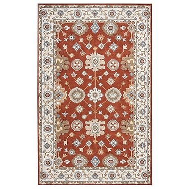Darby Home Co Lamothe Hand-Tufted Rust Area Rug; 8' x 10'