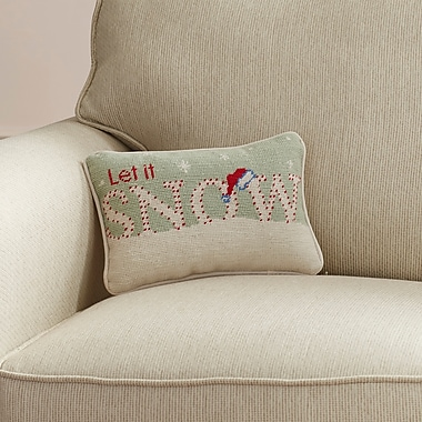 Darby Home Co Crossfell ''Let it Snow'' Wool Lumbar Pillow