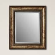 Darby Home Co Framed Beveled Plate Glass Mirror; Small