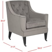 Darby Home Co Mankin Arm Chair; Mushroom Taupe