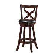 Darby Home Co Richerson 29'' Swivel Bar Stool; Espresso
