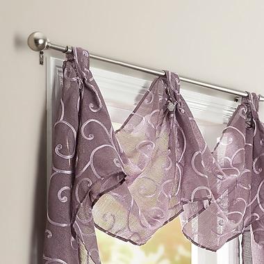 Darby Home Co Mendenhall 36'' Curtain Valance; Plum