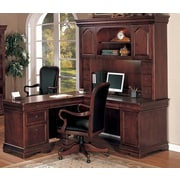 Darby Home Co Knickerbocker L-Shape Executive Desk; Right