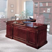 Darby Home Co Prestbury L-Shape Left Return Executive Desk; Right