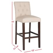 Darby Home Co Gowans 31.5'' Bar Stool (Set of 2); Beige