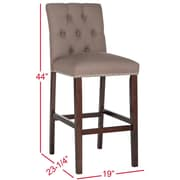 Darby Home Co Gowans 31.5'' Bar Stool (Set of 2); Dark Taupe