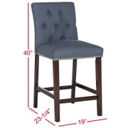 Darby Home Co Gowans 27.5'' Bar Stool (Set of 2); Navy
