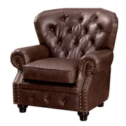 Darby Home Co Lindstrom Tufted Leatherette Arm Chair
