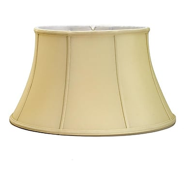 Darby Home Co Soft 18'' Silk Bell Lamp Shade; Egg