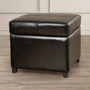 Darby Home Co Leitch  Ottoman; Black