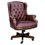 Darby Home Co Norden Executive Chair; Oxblood Vinyl