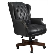 Darby Home Co Norden Executive Chair; Black Caressoft