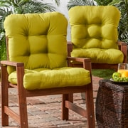 Darby Home Co Outdoor Dining Chair Cushion (Set of 2); Kiwi Green