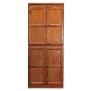 Darby Home Co Kesterson 4 Door Storage Cabinet; Dry Oak