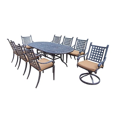 Darby Home Co Vandyne Oval 9 Piece Dining Set w/ Cushions