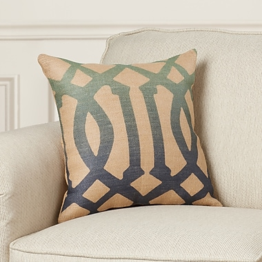 Darby Home Co Finn Burlap Throw Pillow