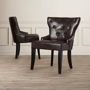 Darby Home Co Buchholtz Leather Side Chair (Set of 2)