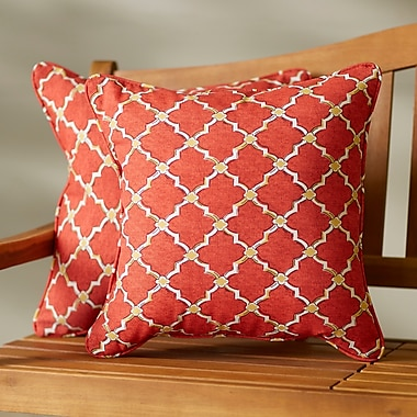 Darby Home Co Maynes Indoor/Outdoor Throw Pillow (Set of 2); 22'' H x 22'' W