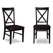 Darby Home Co Oliver Side Chair (Set of 2); Espresso