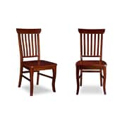 Darby Home Co Oliver Side Chair (Set of 2); Walnut