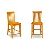 Darby Home Co Oliver Pub Height Side Chair (Set of 2); Caramel Latte