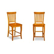 Darby Home Co Oliver Pub Height Dining Chair (Set of 2); Caramel Latte