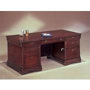 Darby Home Co Knickerbocker Executive Desk; 30'' H x 66'' W x 36'' D
