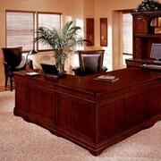 Darby Home Co Knickerbocker 72'' L-Shape Executive Desk; Right