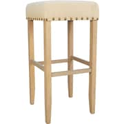Darby Home Co Stafford 30'' Bar Stool; Weathered Grey / Linen