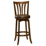 Darby Home Co Bethany 25.5'' Swivel Bar Stool; Cherry