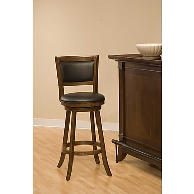 Darby Home Co Marland 24'' Swivel Bar Stool; Cherry