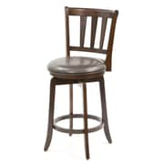 Darby Home Co Malcolm 25.5'' Swivel Bar Stool; Cherry