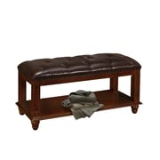 Darby Home Co Daley Wood Bedroom Bench; cherry