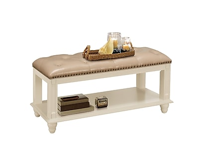 Darby Home Co Daley Leather Storage Bench;