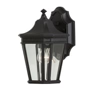 Darby Home Co Chesterhill 1-Light Outdoor Wall lantern; Black