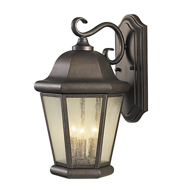 Darby Home Co Hereford 3-Light Outdoor Wall Lantern; Corinthian Bronze
