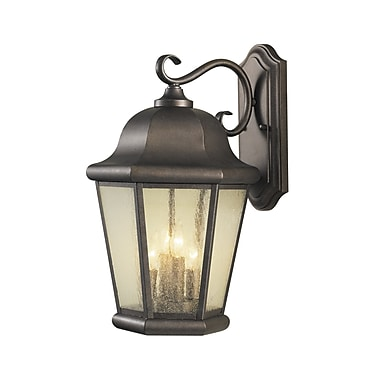 Darby Home Co Hereford 4-Light Outdoor Wall Lantern; Corinthian Bronze